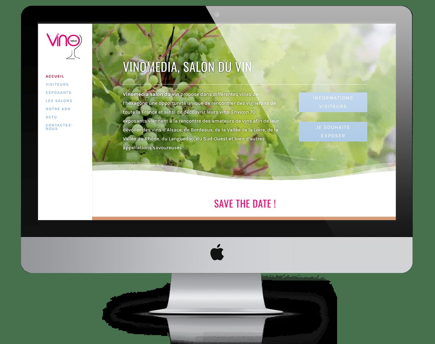 réalisations de sites web lyon : référence Vinomedia