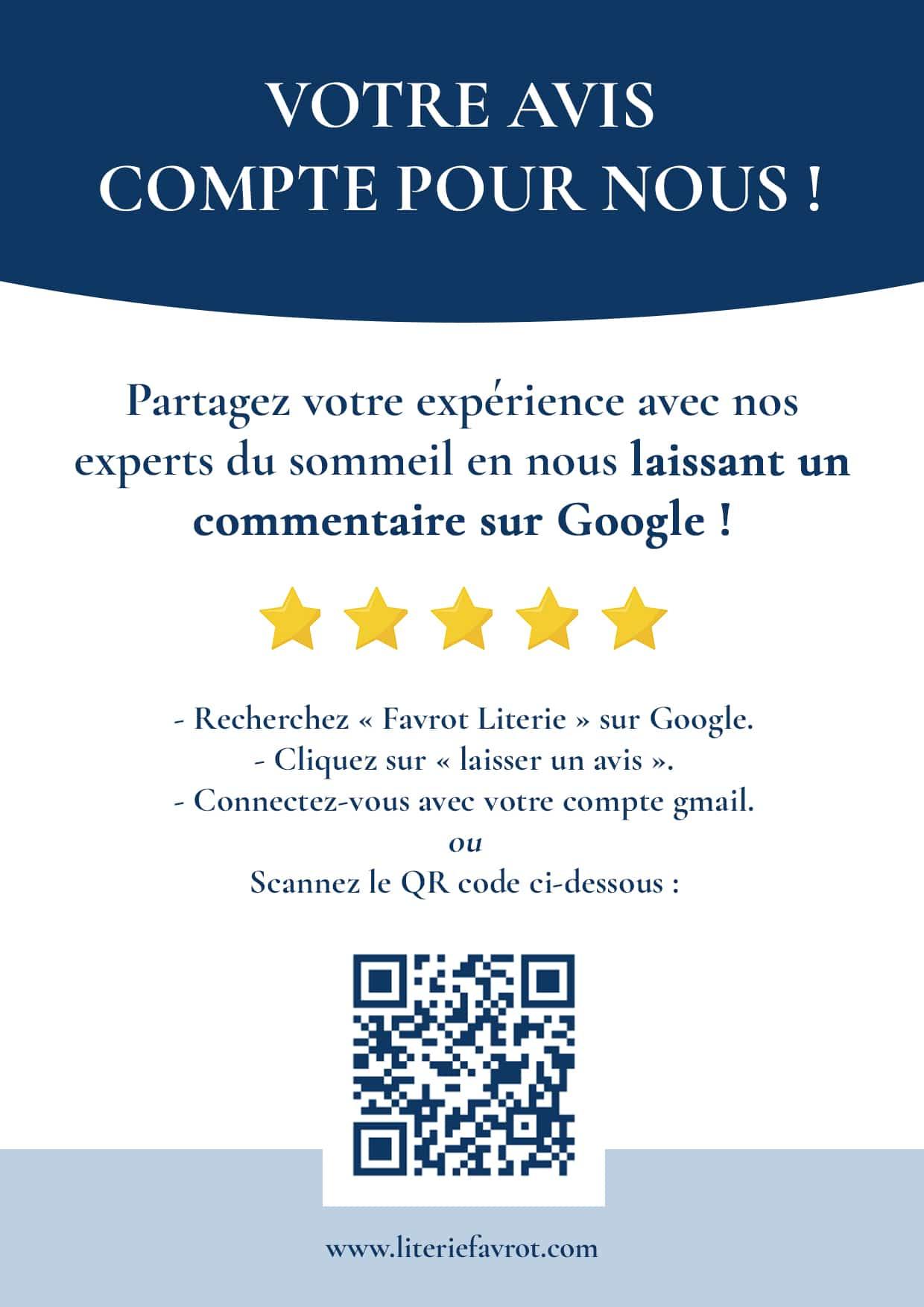 affiche pour obtenir plus d'avis google