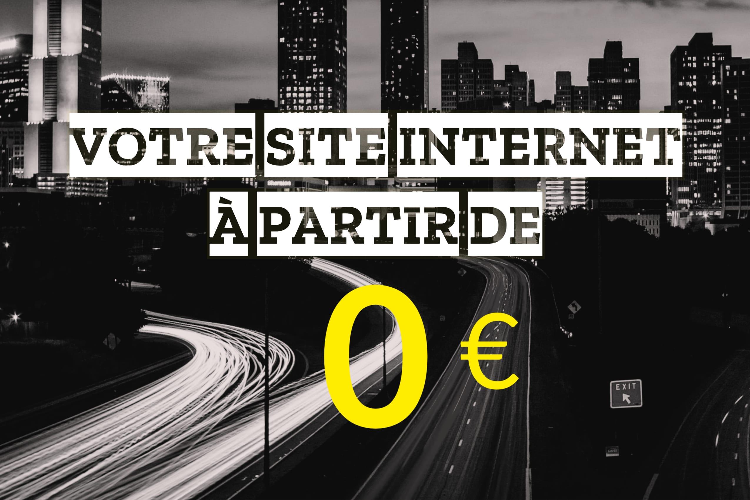 site internet à partir de 0 euro