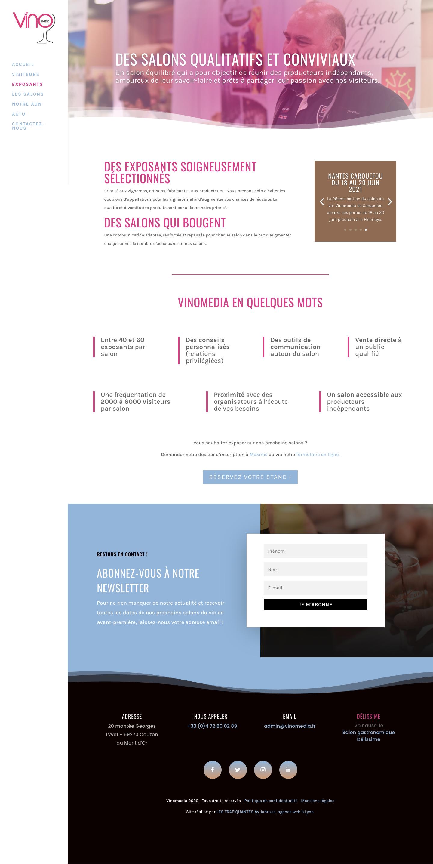 site web salon vinomedia