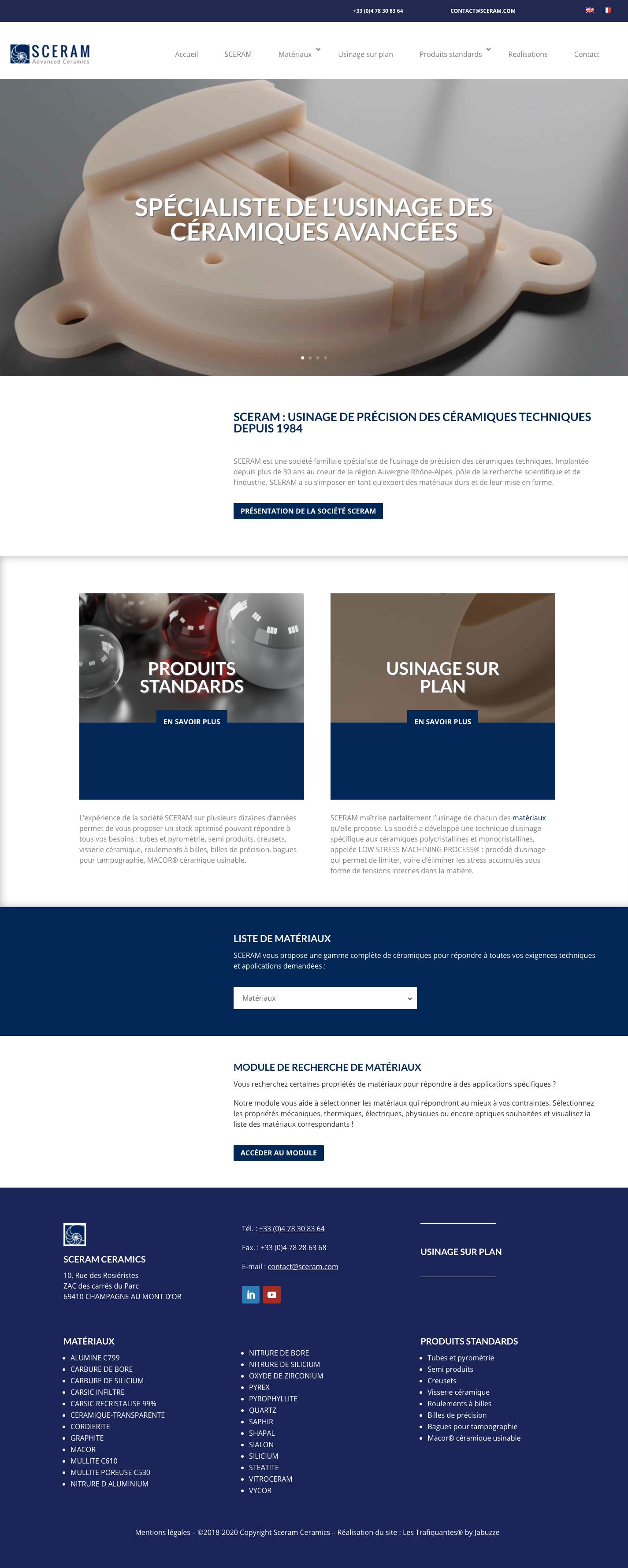 site web sceram advanced ceramics