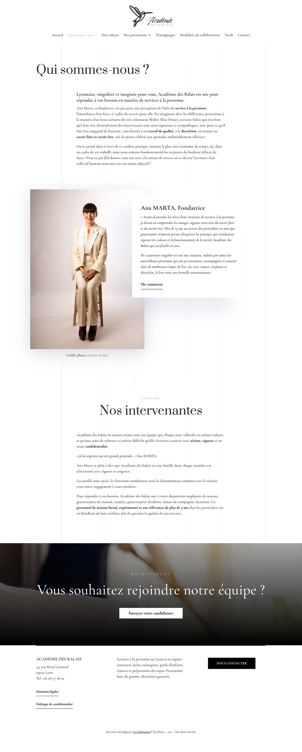 création logo et site web académie des balais