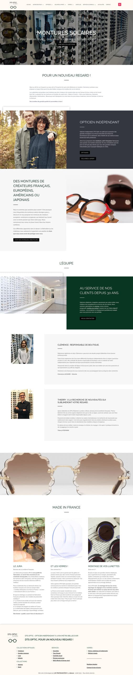 creation nouveau site web dts opticien lyon 2